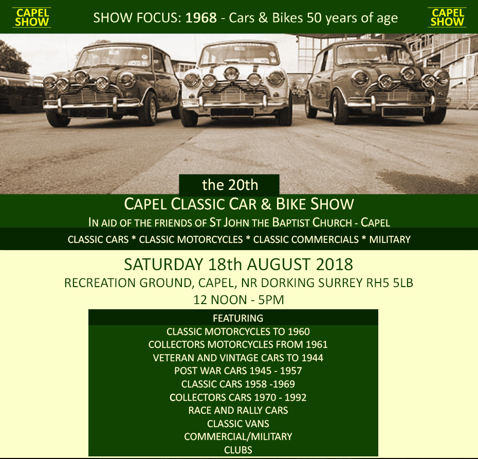 Capel Classic Car & Bike Show Registration - Capel Classic Car ...